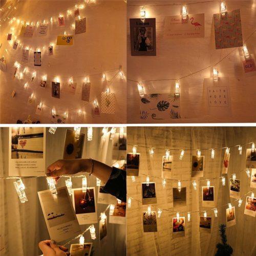 Twinkle Lights Photo Clip LED String