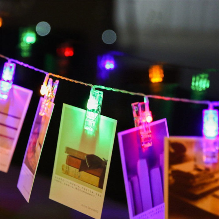 Twinkle Lights Photo Clip LED String