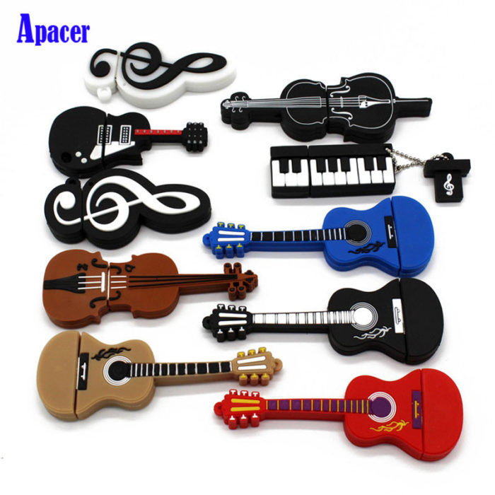 Rubber USB Sticks Musical Instruments