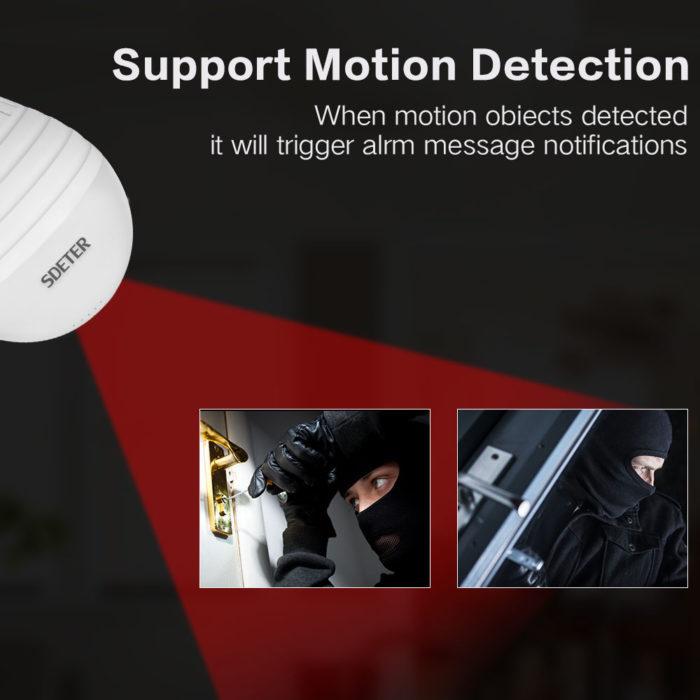 Wireless Fisheye Home Security Camera