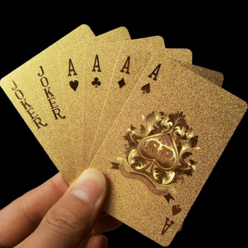 24K Gold Plastic Playing Cards