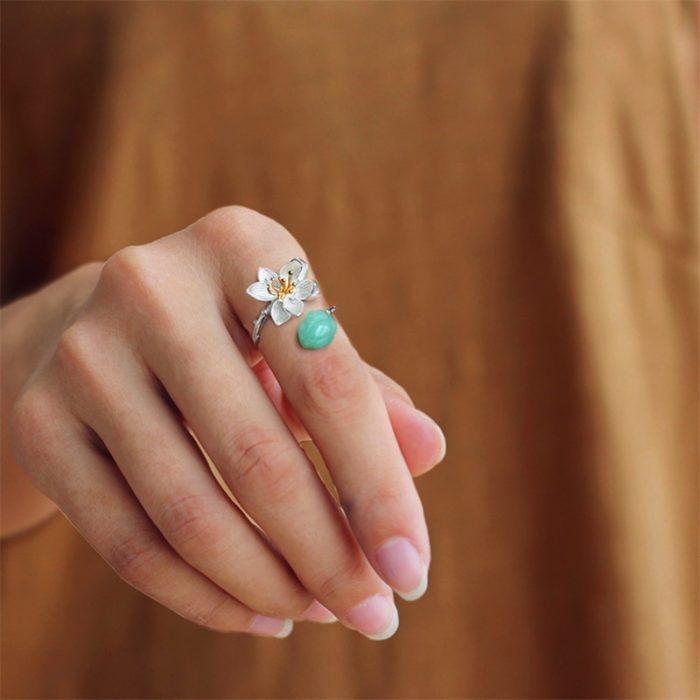 Lotus Flower Ring Jewelry