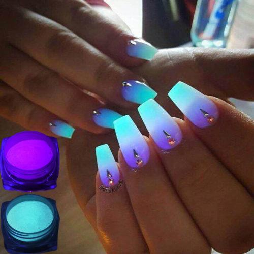 Fluorescent Nail Glitter Dust