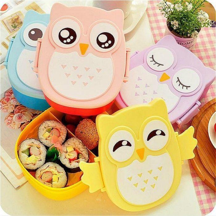 Cute Owl Pattern Kids Lunch Box