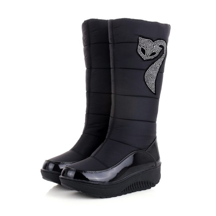 Women's Mid Calf Leather Boots