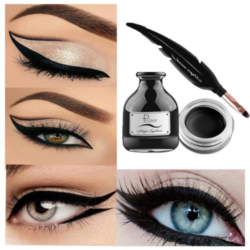 Gel Eyeliner Waterproof Black Feather