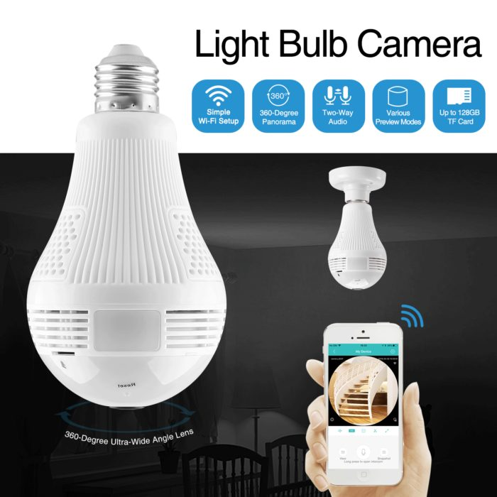 Security Camera Light Bulb CCTV