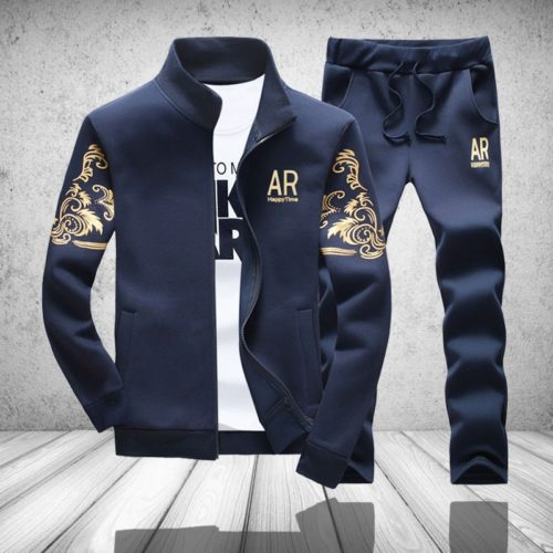 Tracksuit Men's Gold Embossed Outerwear
