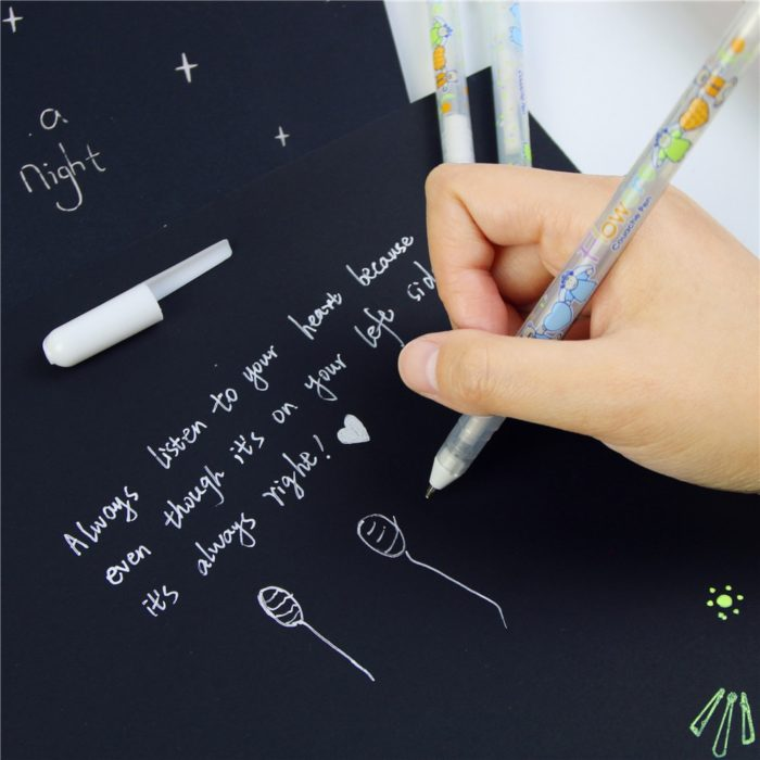 White Pen Gel Stationary Writer