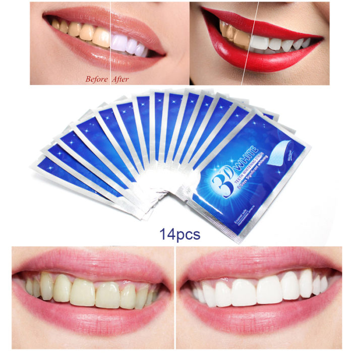 Teeth Whitening Strips Oral Gel