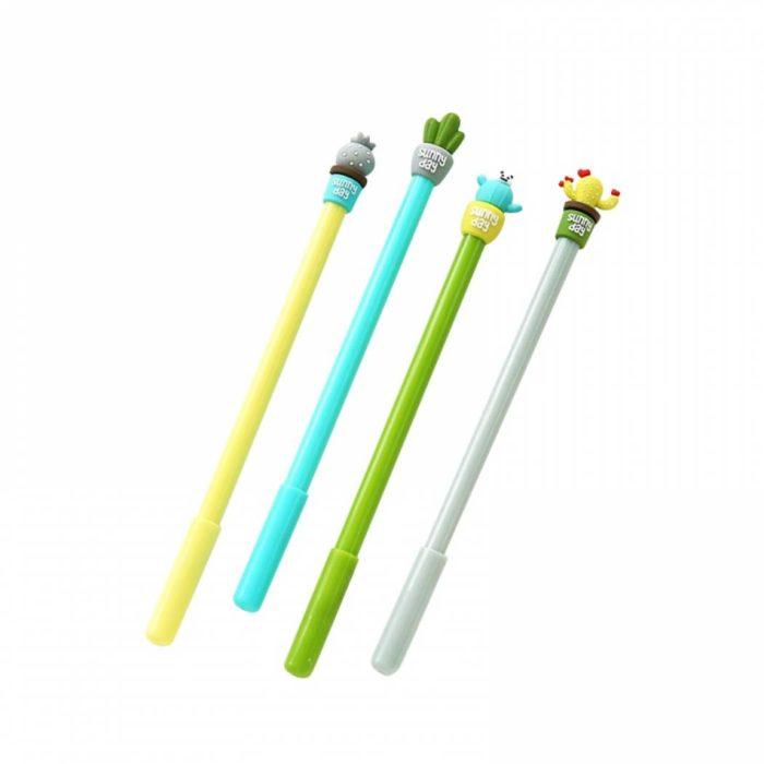Cute and Colorful Cactus Gel Pens