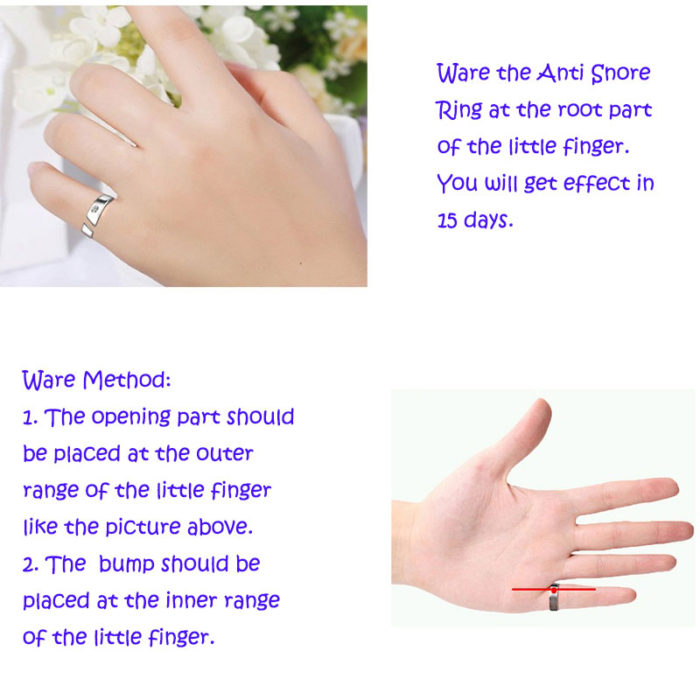 Magnetic Therapy Anti Snore Ring