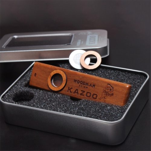 Wooden Harmonica with Metal Box
