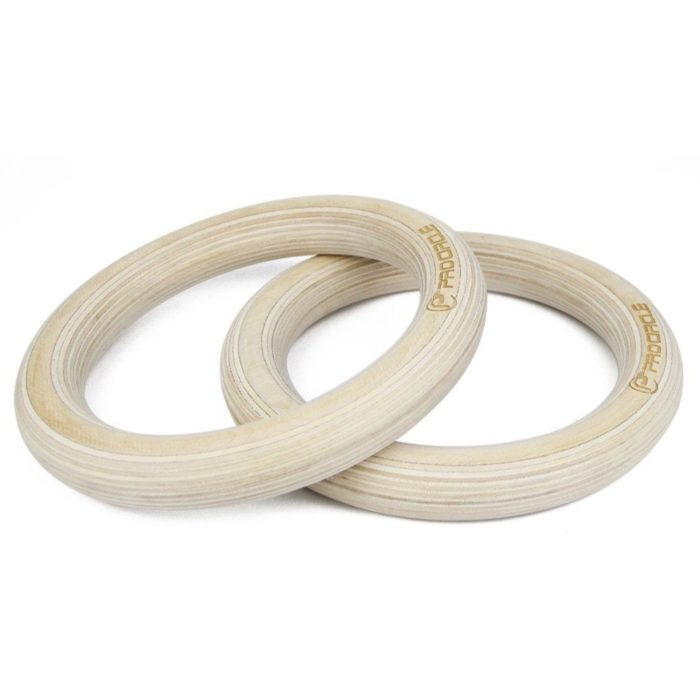 Wood Gymnastic Rings with Adjustable Straps