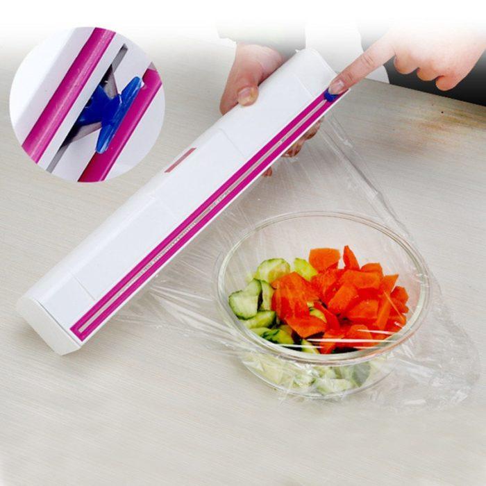 Plastic Cling Film Dispenser and Cutter