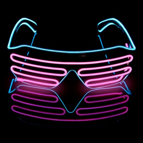 Novelty LED Rave Glasses