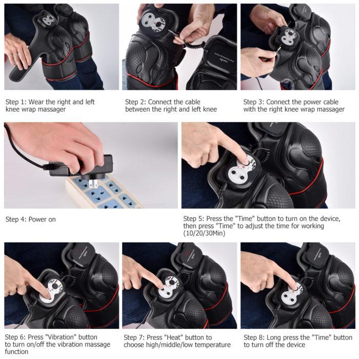 Magnetic Heating Knee Massage Machine