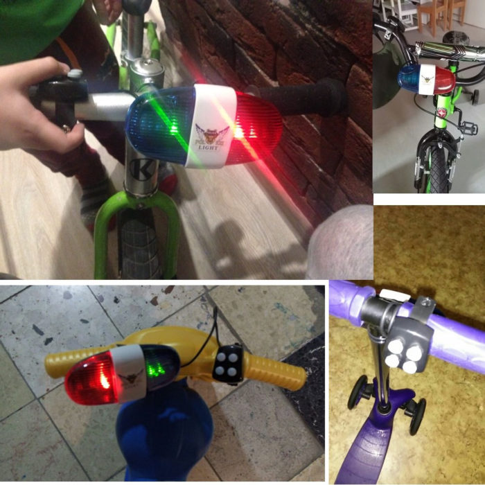 Bicycle Bell LED Police Light