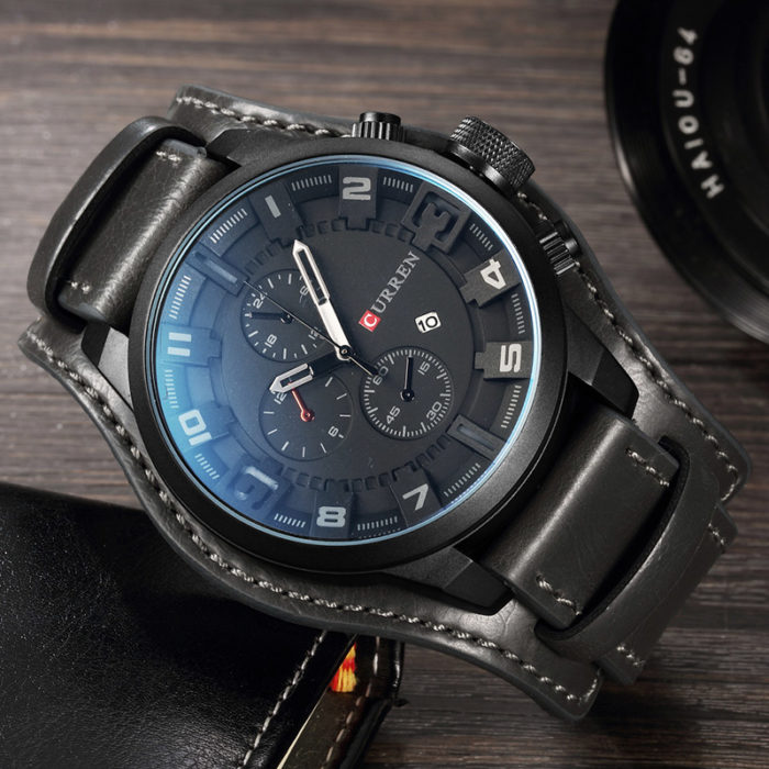 Sport Watch Leather Quartz