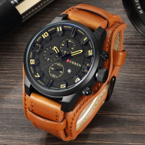 Sport Watch Leather Quartz