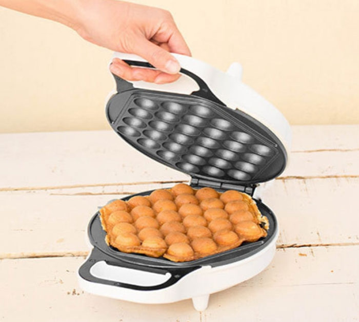 Waffle Maker Bubble Press