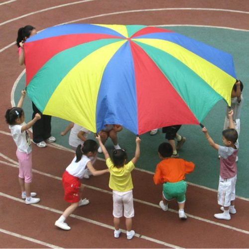 Kids Rainbow Parachute Game