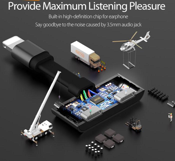Charger Headphone Lightning Splitter