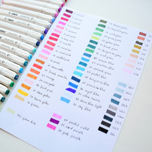 Brush Pen Markers Art Set