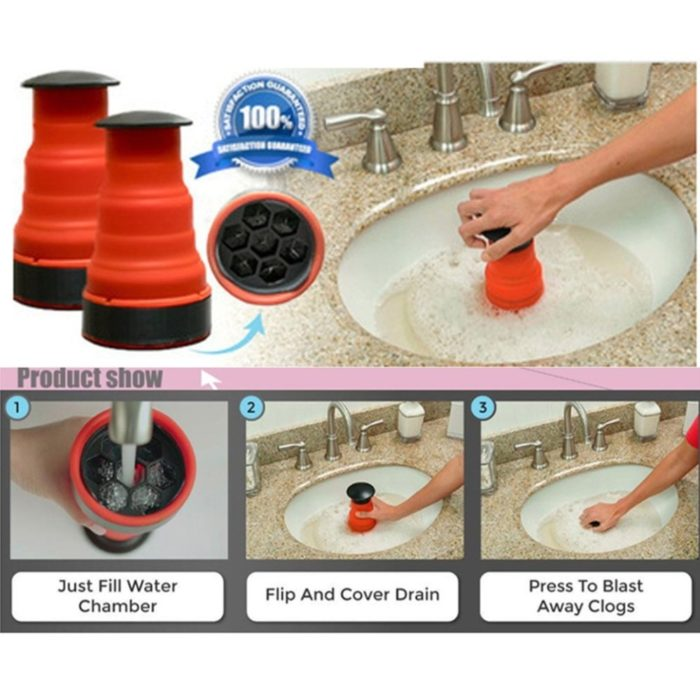 Sink Plunger Air Drain Blaster