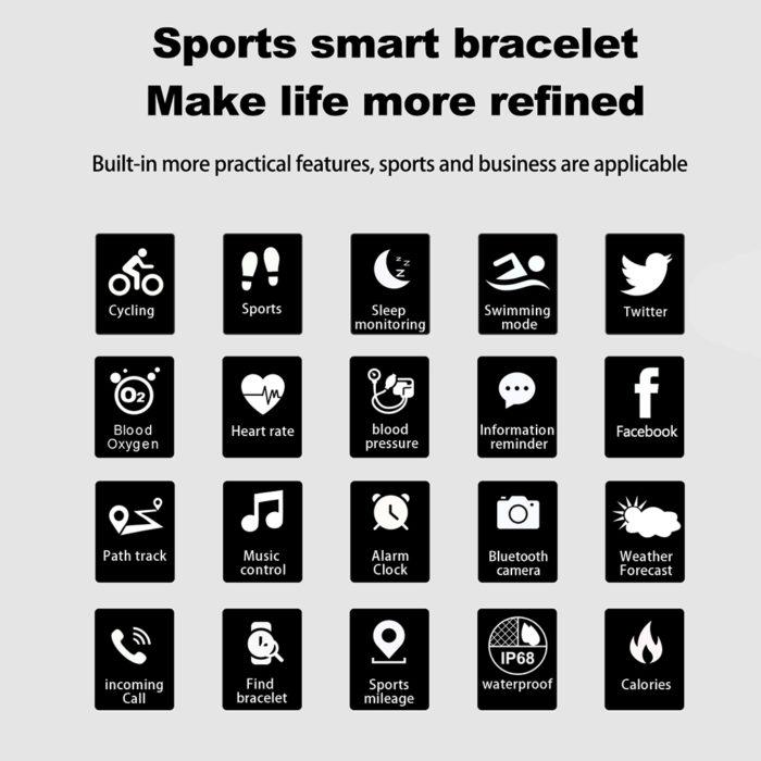 Smart Fitness Tracker Bracelet
