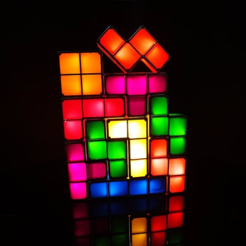 LED Lighting Tetris Nightlamp