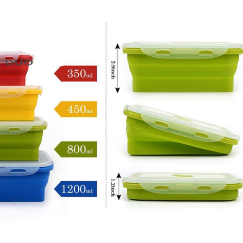 Food Container Collapsible Silicone