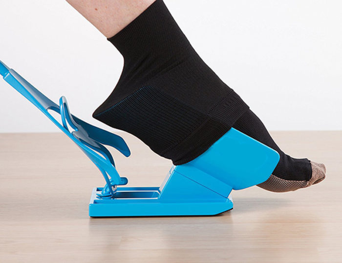 Sock Aid Foot Slider Device