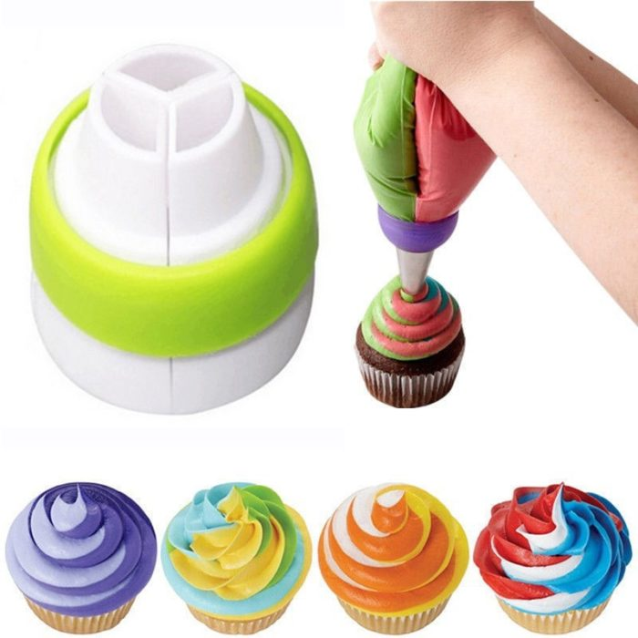 Russian Piping Tips Tri-Colored Nozzle