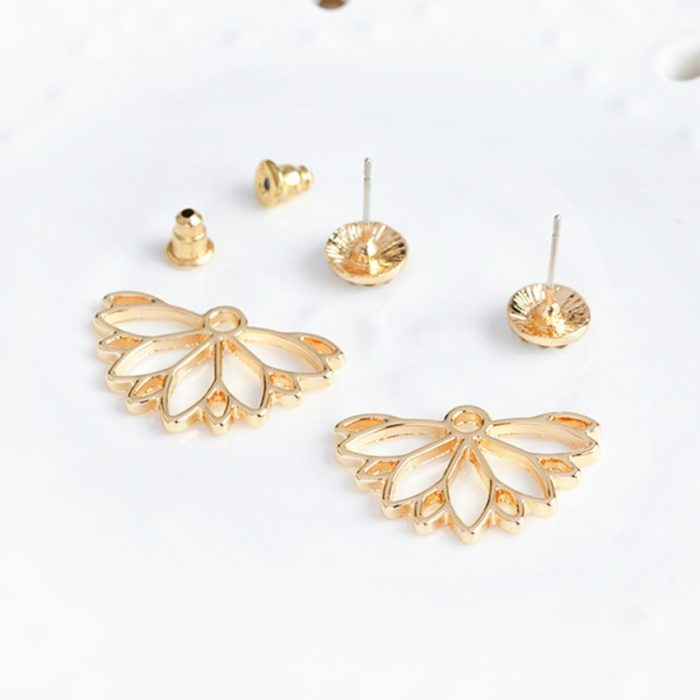 Stud Earrings Earlobe Wings