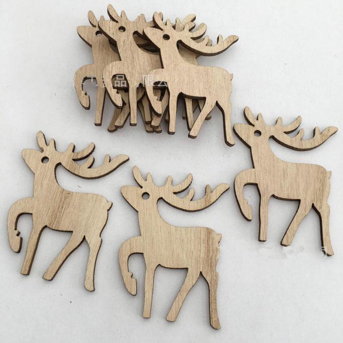 Christmas Ornaments Wooden Tree Pendants