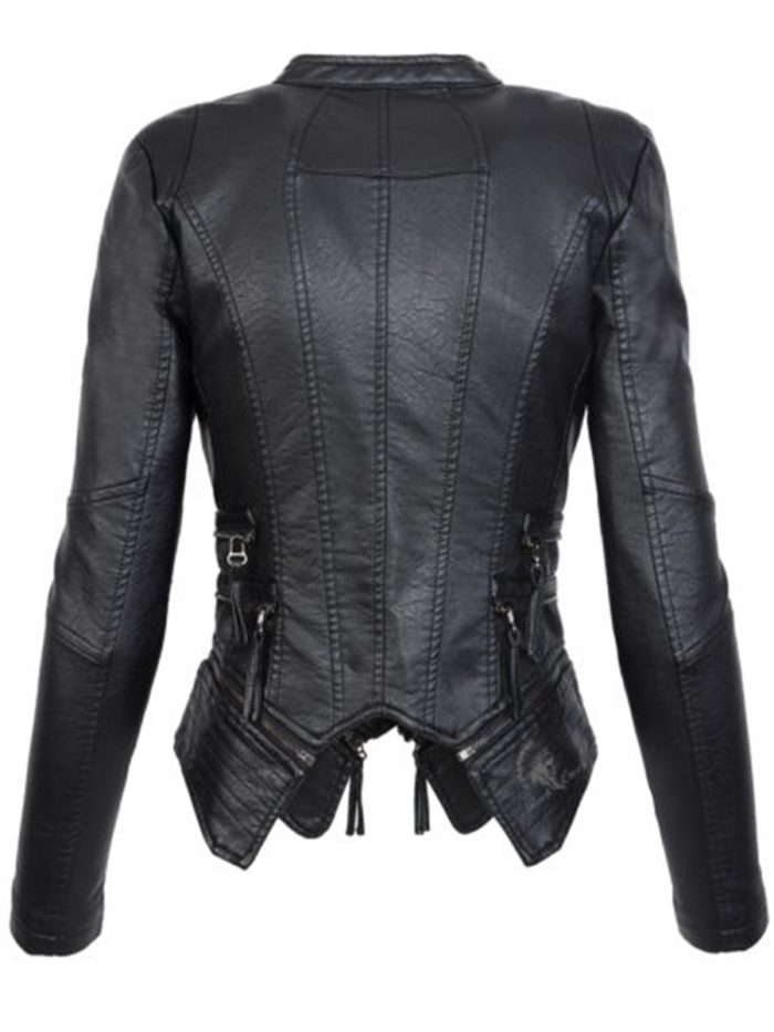 Leather Jacket Ladies Outerwear