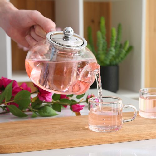 Tea Pot Loose Leaf Glass Infuser