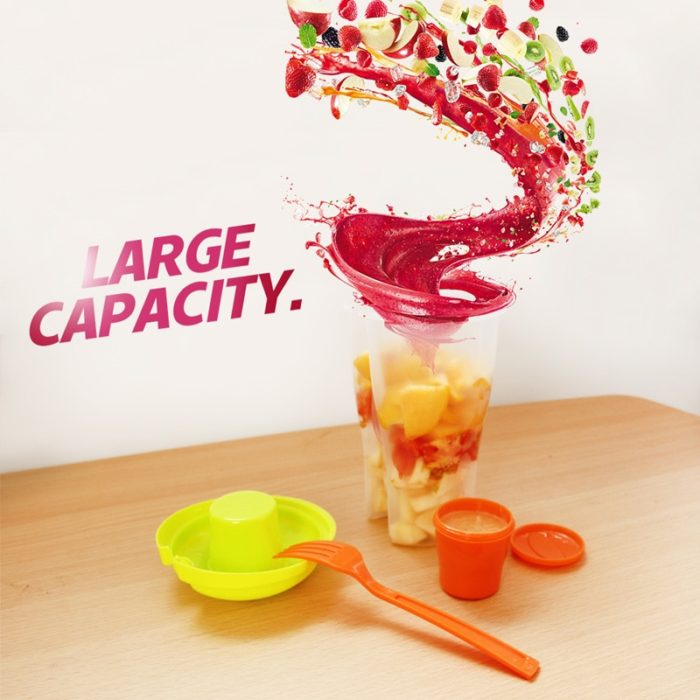Fruit Cups Portable Salad Tumbler