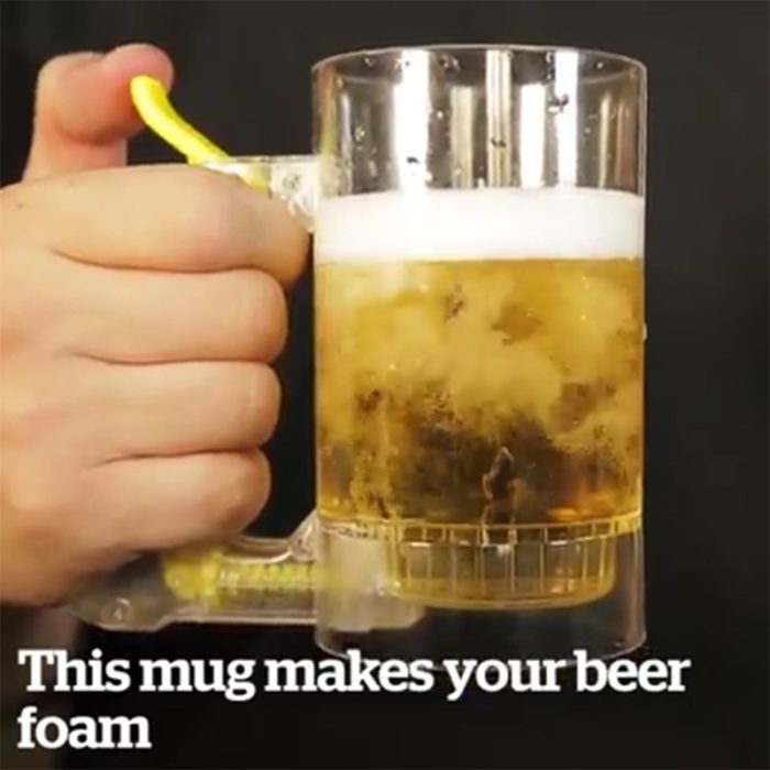 Beer Mug Self-Foaming Server