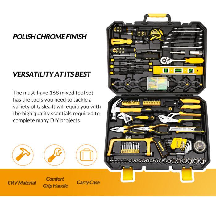 Tool Set 168-Piece Hardware Kit