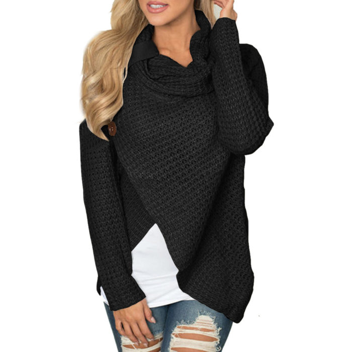 Knit Sweater Pullover Wrap