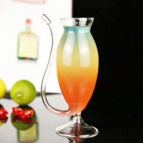 Juice Glass Drinking Straw