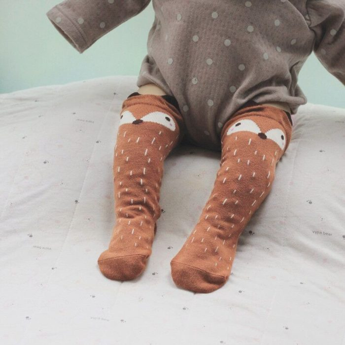 Cartoon Baby Knee High Socks