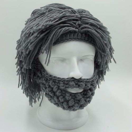 Winter Hats Beard Knitted Beanie