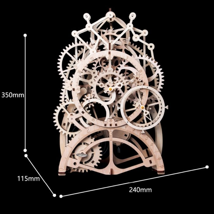 3D Puzzles Wooden Clockwork Model