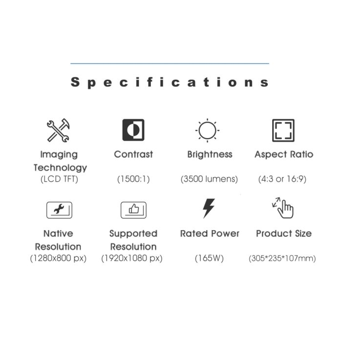 Multimedia Video LED HD Projector