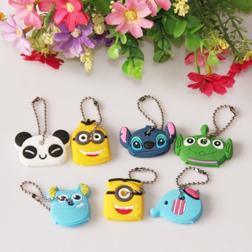 Cute Cartoon Silicone Key Cap Covers