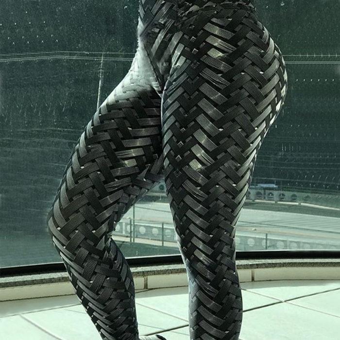 Sports Leggings Weave Patterned Bottoms