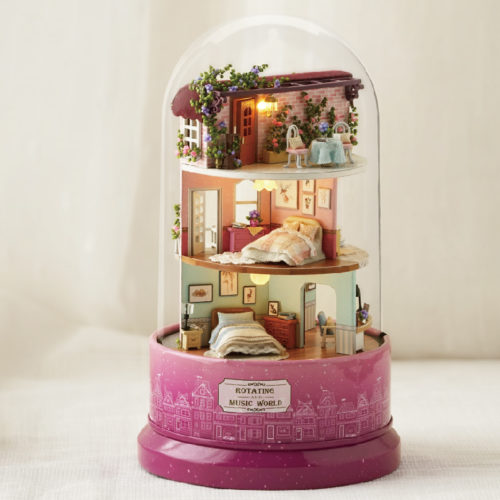 DIY Dollhouse Miniatures Music Box